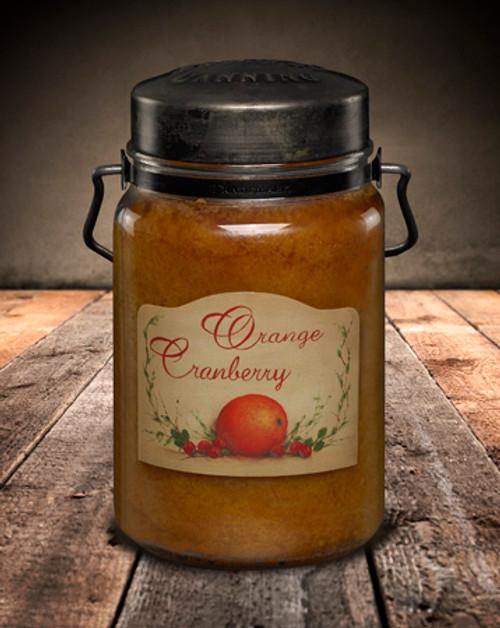 Orange Cranberry 26 oz. McCall's Classic Jar Candle