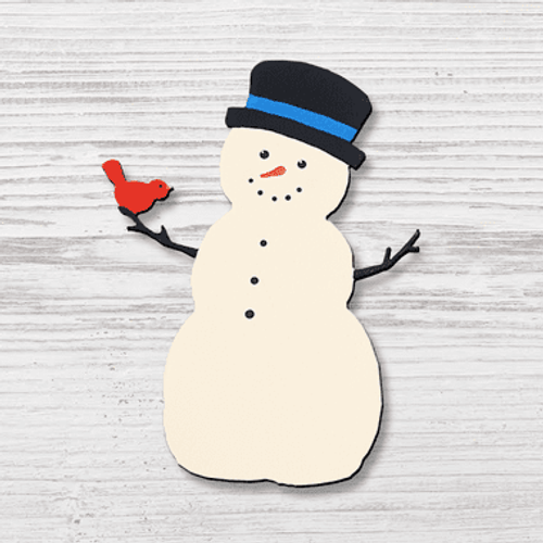Snowman with Tophat Magnet ROEDA HANDPAINTED ORIGINALS