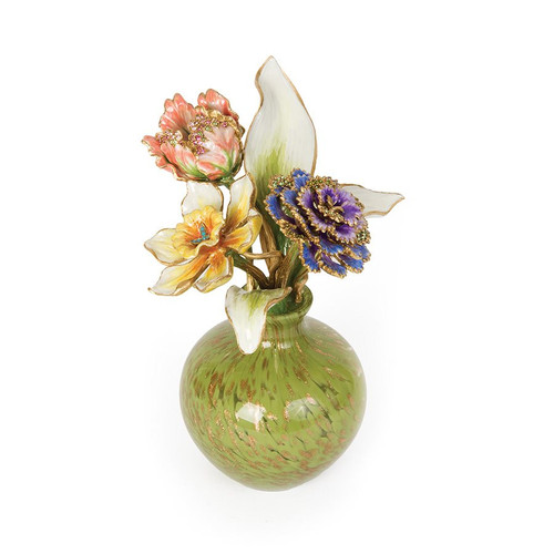 Jay Strongwater Selina Floral Objet - Special Order