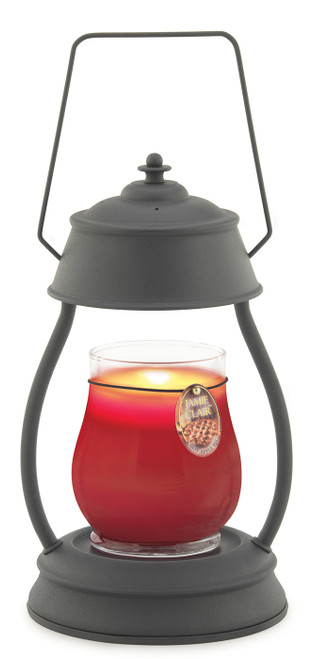 Black Hurricane Candle Warmer Lantern