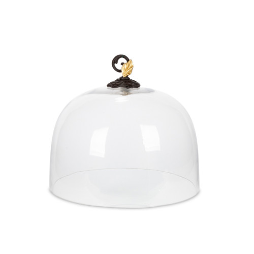Gold Leaf Glass Dome - GG Collection