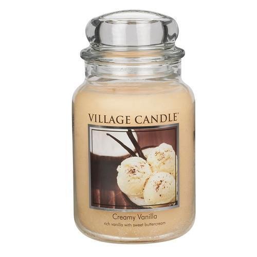 Creamy Vanilla 26 oz. Premium Round by Village Candles
