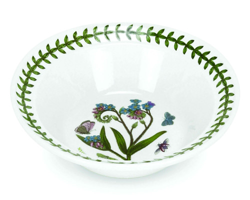 Botanic Garden Set of 6 Oatmeal/Soup Bowls (Assorted Motifs) by Portmeirion - Special Order