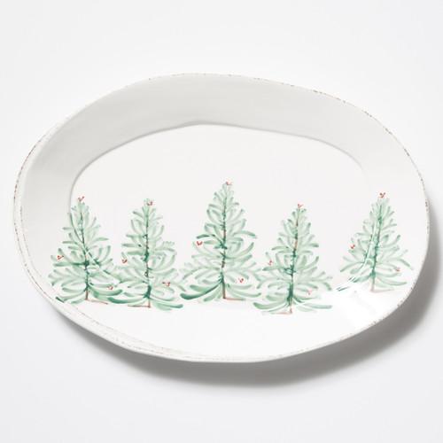 Vietri Lastra Holiday Oval Platter - Special Order