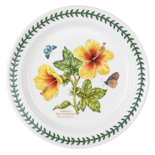 Exotic Botanic Garden Hibiscus Motif Set of 6 Dinner Plates by Portmeirion - Special Order