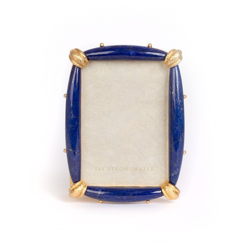"""Jay Strongwater Priscilla Lapis 5"""" x 7"""" Frame - Special Order"""