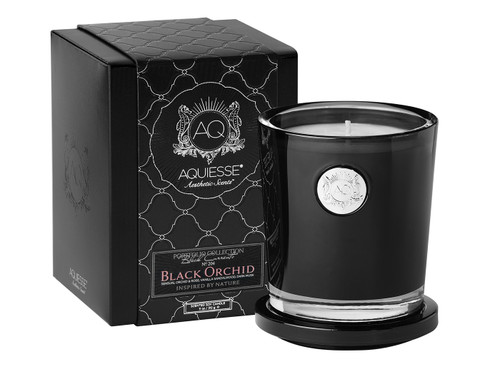 Black Orchid Large Soy Candle by Aquiesse