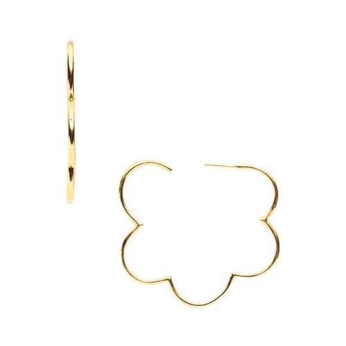 Julie Vos Gardenia Medium Hoop Earrings