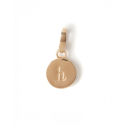"""Letter """"H"""" Round Crystal Charm - Style Spartina 449"""