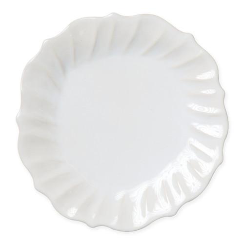 Vietri Incanto Stone Linen Ruffle Dinner Plate