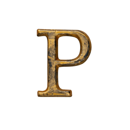 """Letter """"P"""" - 1.5in Metal Letter - GG Collection"""