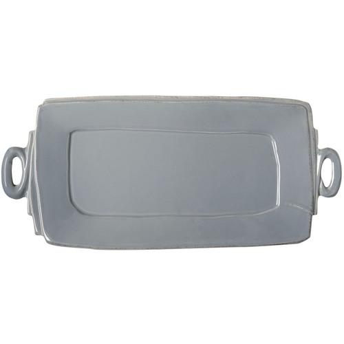 Vietri Lastra Gray Handled Rectangular Platter - Special Order