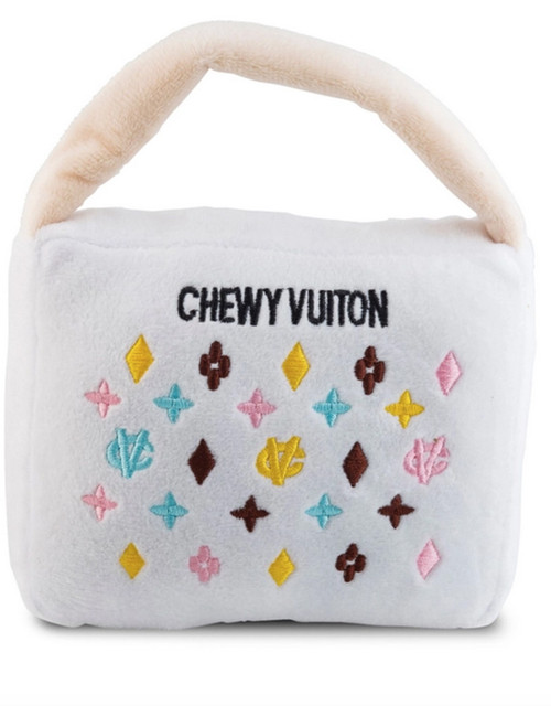 Large White Chewy Vuiton Handbag by Haute Diggity Dog
