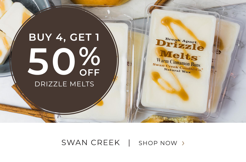 Swan Creek - Drizzle Melts - Buy 4 Get 1 50 Percent OFF