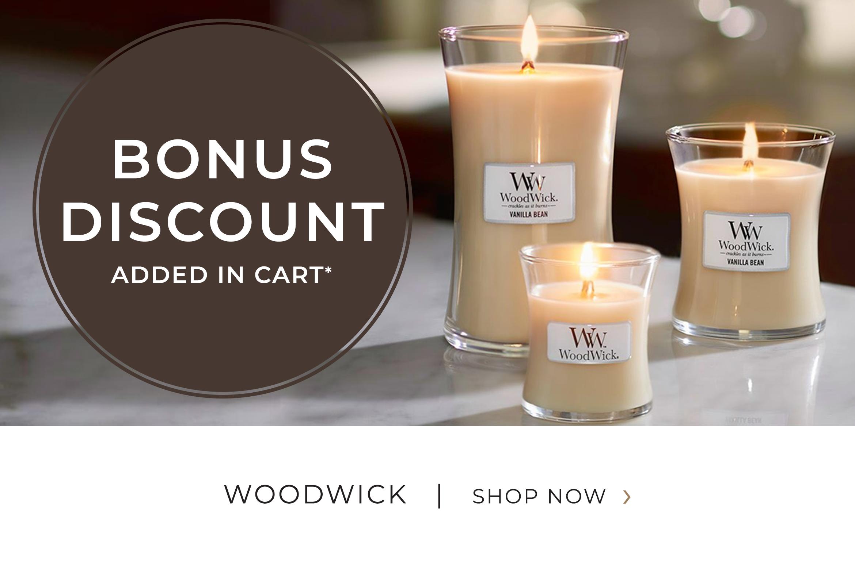 WoodWick - Bonus Discount added in cart