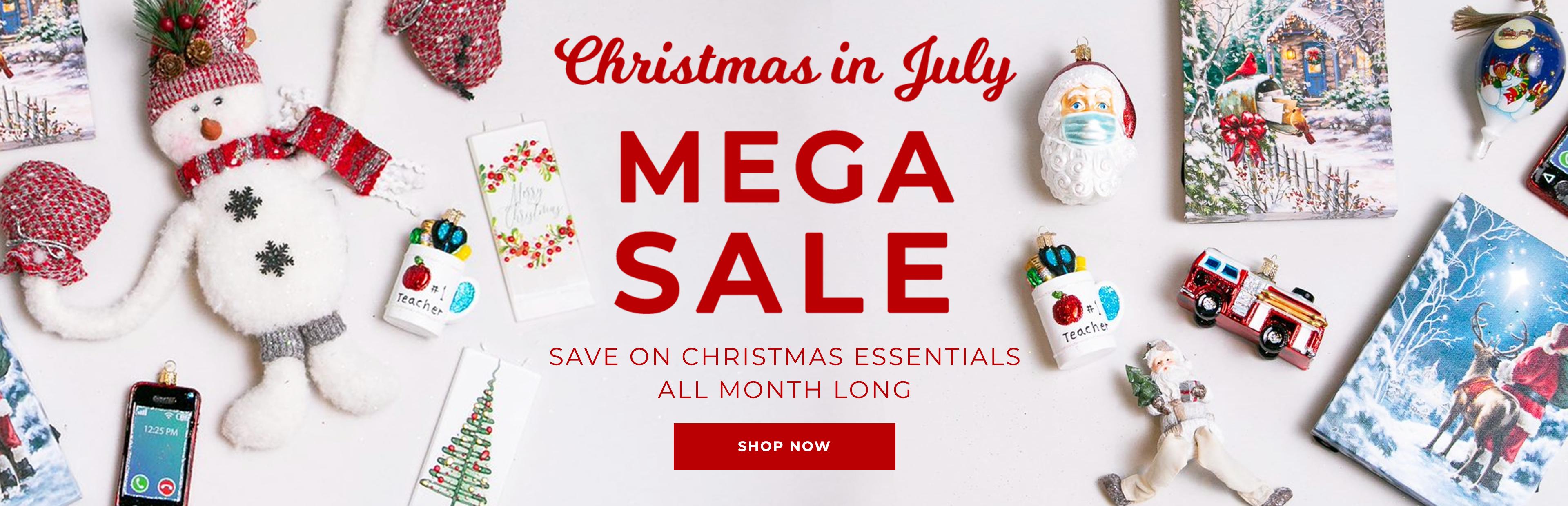 Christmas in July Mega Sale