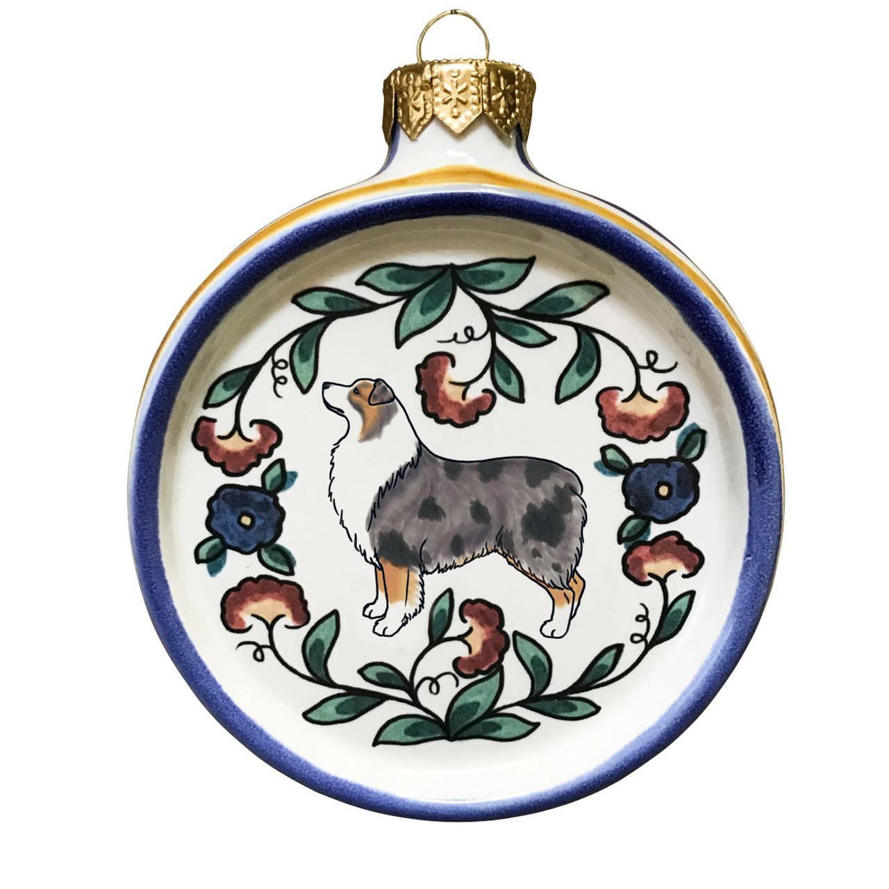 Australian Shepherd Christmas Ornament.Australian Shepherd Dog Lover Christmas Ornament