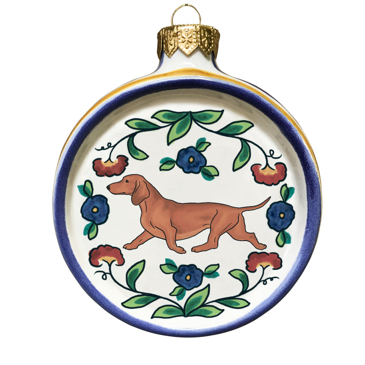 Black and Tan Dachshund Ornament Handmade Dog Christmas Tree Ornament