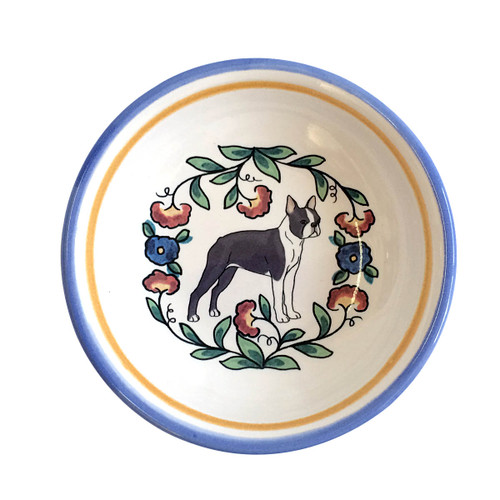 Boston Terrier ring dish / dipping bowl from shepherds-grove.com