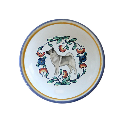 Norwegian Elkhound ring dish / dipping bowl from shepherds-grove.com