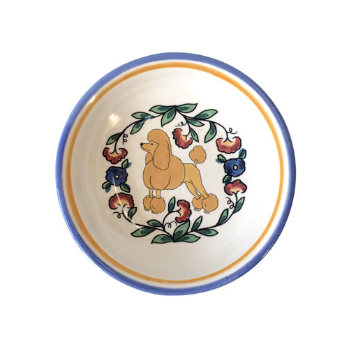 Apricot show-cut Poodle ring dish / dipping bowl from shepherds-grove.com