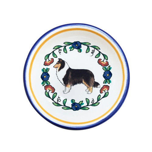 Tricolor rough coat collie ring dish from shepherds-grove.com