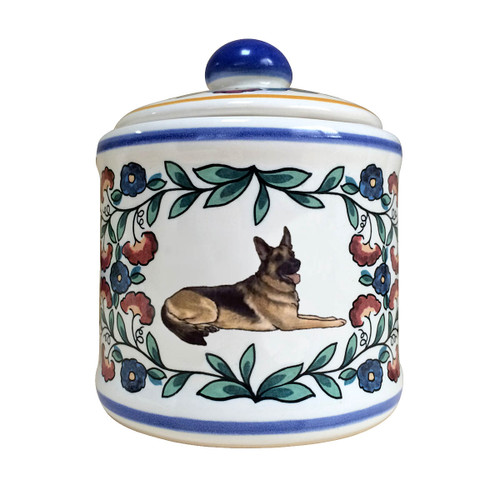 Black and Tan German Shepherd Sugar Bowl