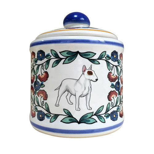 Bull Terrier sugar bowl - handmade by shepherds-grove.com