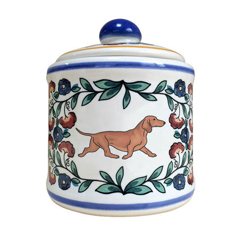 Red Dachshund sugar bowl -handmade by shepherds-grove.com