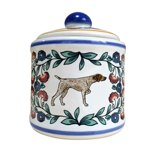 German Shorthaired Pointer sugar bowl - handmade by shepherds-grove.com