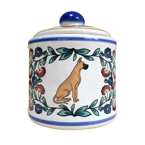 Fawn Great Dane sugar bowl - handmade by shepherds-grove.com