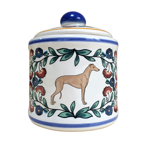 Fawn Greyhound sugar bowl - handmade by shepherds-grove.com.