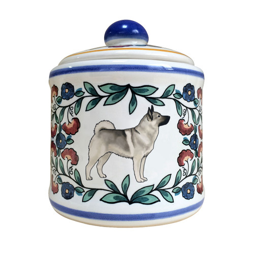 Handmade Norwegian Elkhound sugar bowl by shepherds-grove.com