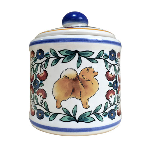 Handmade Orange Pomeranian sugar bowl by shepherds-grove.com
