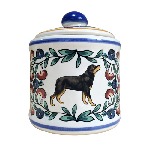 Handmade Rottweiler sugar bowl by shepherds-grove.com
