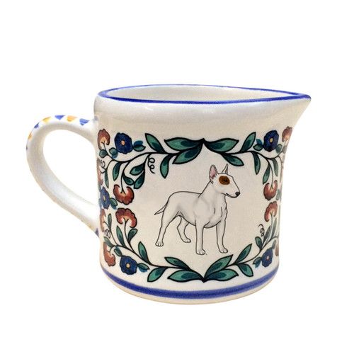 Bull Terrier Creamer - handmade by shepherds-grove.com