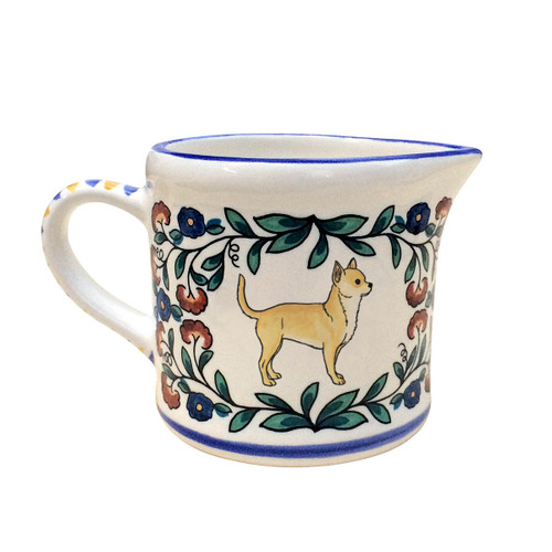 Light Fawn Chihuahua creamer - handmade by shepherds-grove.com