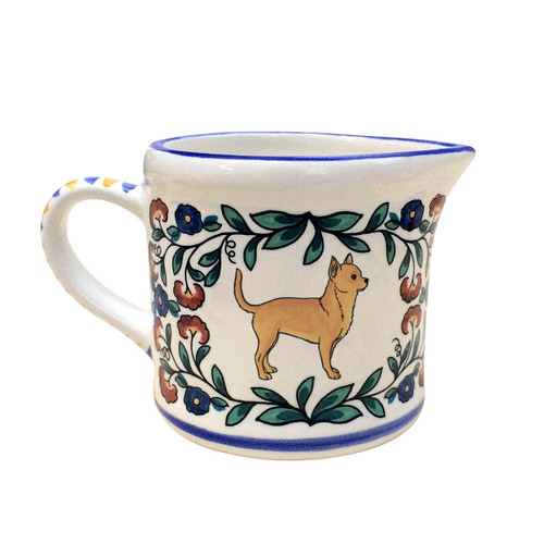 Tan Chihuahua creamer - handmade by shepherds-grove.com