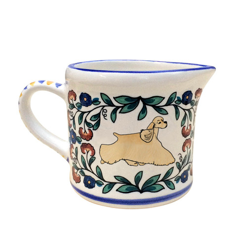 Buff Cocker Spaniel Creamer - handmade by shepherds-grove.com