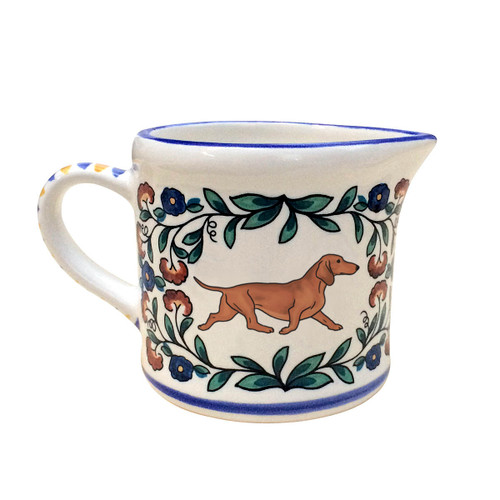 Red Dachshund creamer - handmade by shepherds-grove.com