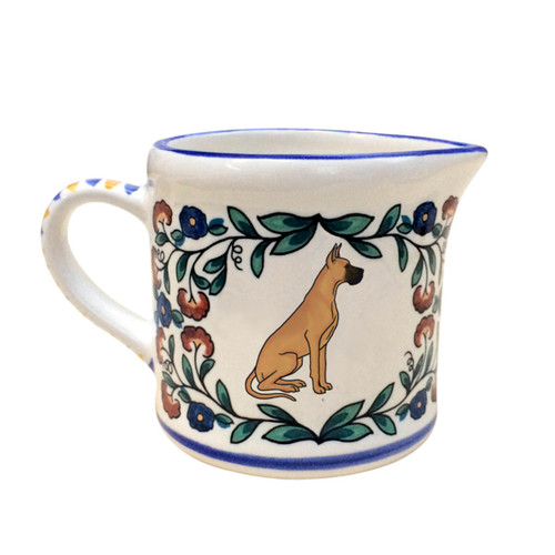 Fawn Great Dane Creamer - handmade by shepherds-grove.com