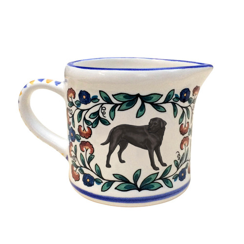 Black Labrador Retriever creamer - handmade by shepherds-grove.com
