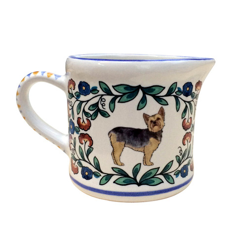 Puppy-Cut Yorkshire Terrier Creamer - handmade by shepherds-grove.com