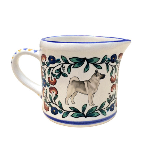 Norwegian Elkhound creamer - handmade by shepherds-grove.com