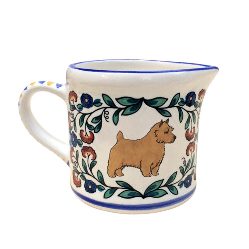 Red Norwich Terrier Creamer -handmade by shepherds-grove.com
