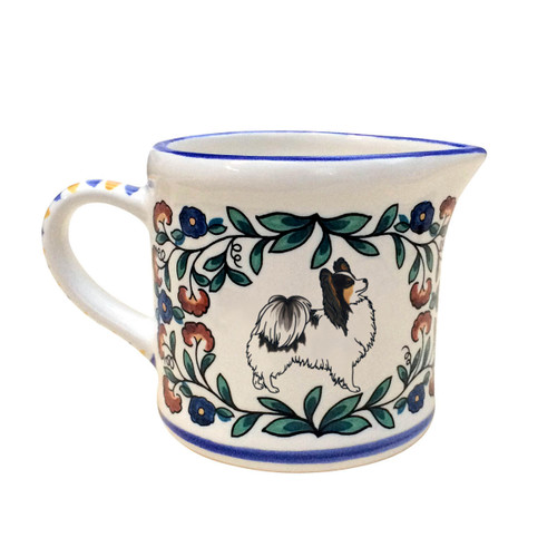 Black and White Papillon Creamer - handmade by shepherds-grove.com