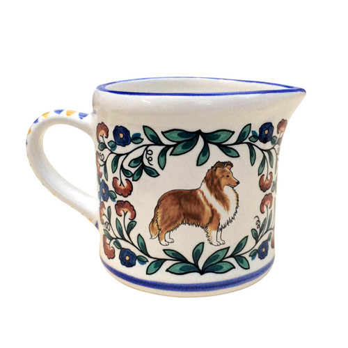 Sable Shetland Sheepdog creamer - handmade by shepherds-grove.com