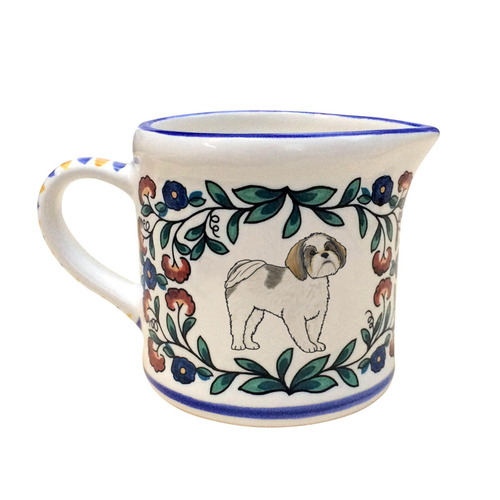Grey and White Shih Tzu Creamer - handmade by shepherds-grove.com