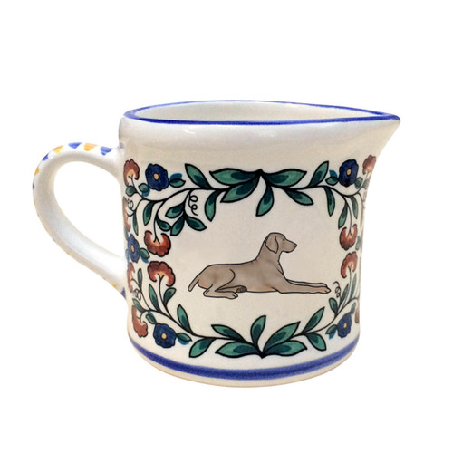 Grey Weimaraner creamer - handmade by shepherds-grove.com