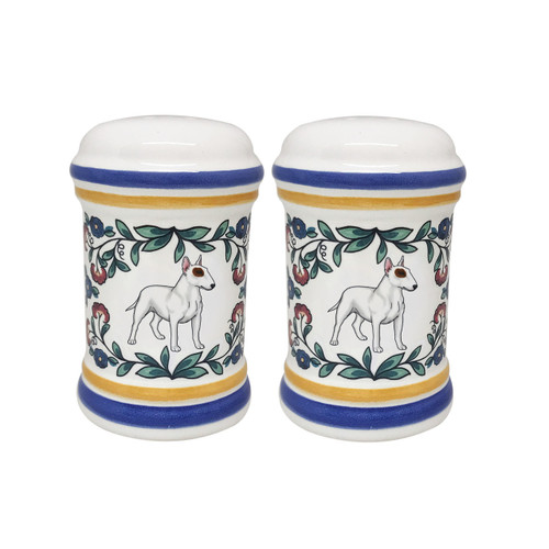 Bull Terrier salt and pepper shaker set handmade by shepherds-grove.com